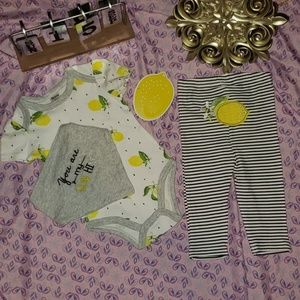 You Are My Sunshine Baby Girl 3 Piece Outfit